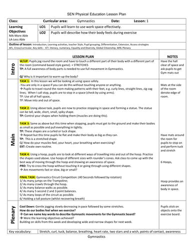 gymnastics lesson plan template 6 week current affairs plan 2016 complete with worksheets by uk teaching resources tes