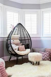 Reading, Nook, With, Teardrop, Chair, Faux