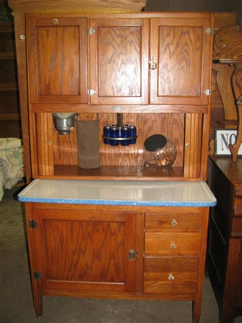 Vintage Kitchen Furniture by Antique Bakers Cabinet Oak Hoosier Kitchen Cabinet