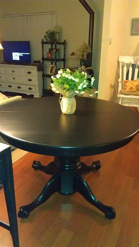 black clawfoot dining table  thepaintedpast  etsy