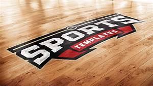 Basketball Court Photoshop Logo Mockup