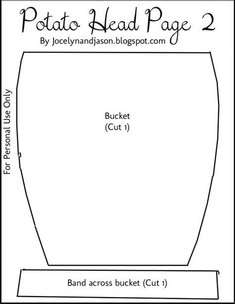 mr potato felt template mr potato accessory template book pages buckets potatoes and