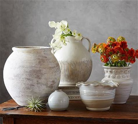 eclectic ivory ceramic vase pottery barn