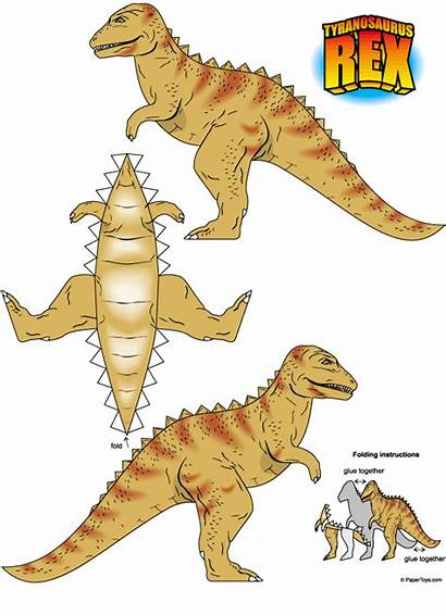 Rex Dinosaur Paper Printable Toys Cut Models