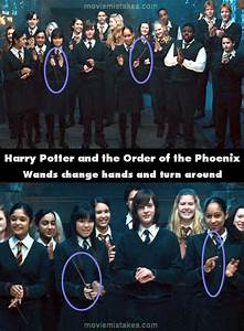 Harry Potter and the Order of the Phoenix movie mistake ...
