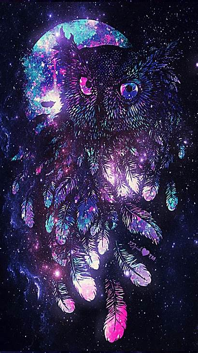 Galaxy Wallpapers Owl Trippy Pretty Glitter Girly