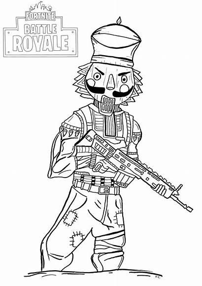 Fortnite Royale Battle Coloring Crackshot Pages Winter