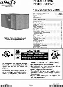 Lennox Package Units Both Units Combined  Manual L0806697