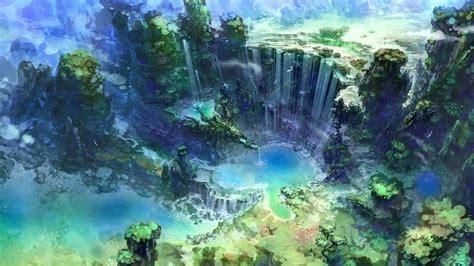 artwork fantasy art waterfall water nature wallpapers