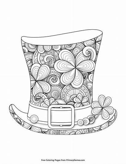 Patrick St Leprechaun Hat Coloring Pages Printable