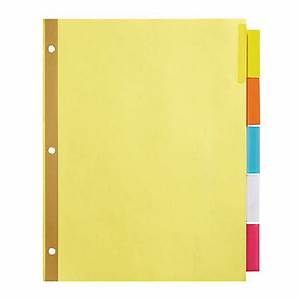 office depot brand insertable dividers with big tabs buff With 5 tab insertable dividers template