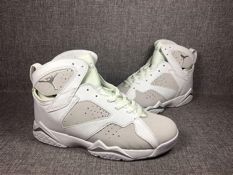 nike air jordan vii  retro men basketball shoes white