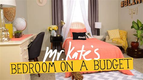 bedroom   budget diy home decor  kate youtube
