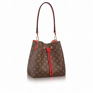 Luxury Monogram Canvas and Leather Handbag Neonoe LOUIS