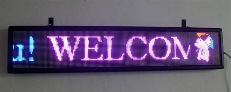 scrolling led signs allen signs