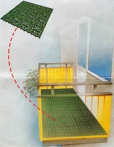 Boden Für Balkon : der balkon mit bodenbelag aus wetterfesten kunststoff ~ Michelbontemps.com Haus und Dekorationen
