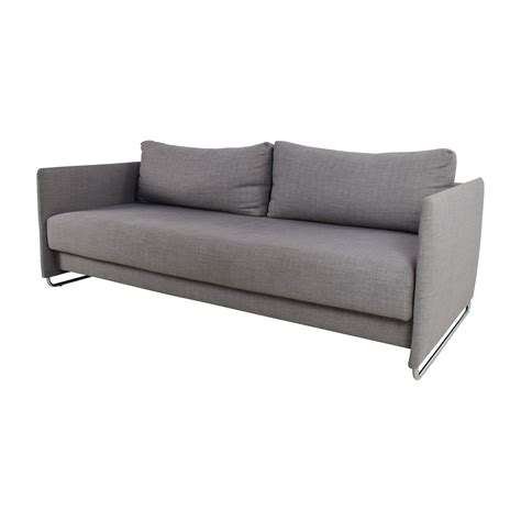 50% Off  Cb2 Cb2 Tandom Grey Sleeper Sofa Sofas