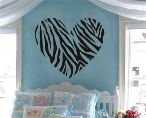 Zebra Print Themed Bedroom by Removable Wall Removable Wall Decals And Pink Walls On