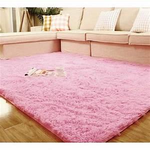 Tapis Rose Fushia : tapis de sol shaggy confortable moquette antidra with moquette rose fushia ~ Teatrodelosmanantiales.com Idées de Décoration