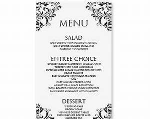 best 25 wedding menu template ideas on pinterest free With free printable menu cards templates