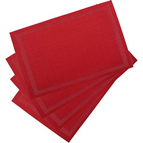 large table placemats dinachef red table mats for dining table or kitchen quality reversible place mats large
