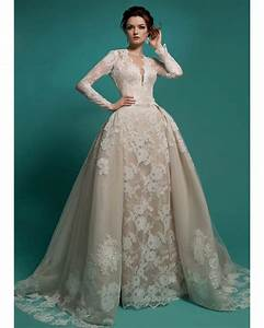 popular champagne wedding dresses buy cheap champagne With long sleeve champagne wedding dress
