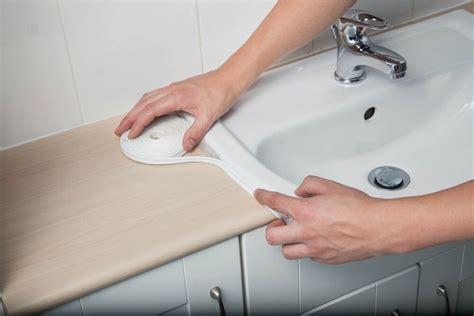 kitchen worktop bathroom sink basin  adhesive sealant