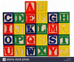 alphabet in wooden letter blocks stock photo 23395691 alamy With alphabet letters blocks