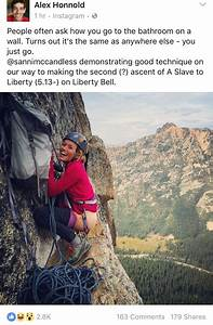 when ya gotta go climbing pinterest rock climbing With how do rock climbers go to the bathroom