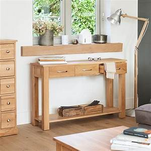 Mobel Light Oak Console Table Wooden Furniture Store