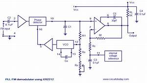 Pll Fm Demodulator Circuitelectronics Project Circuts
