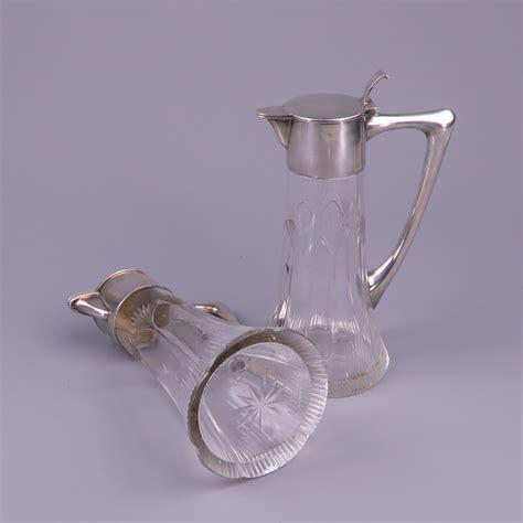 where to get glass cut pair nouveau silver and flagons prague circa 1723