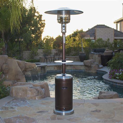 patio heaters garden outdoor patio heater w table propane standing lpg