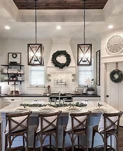 38, Stunning, Kitchen, Decoration, Ideas, With, Rustic, Farmhouse, Style