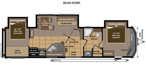 Travel Trailer Floor Plans 1 Bedroom by 2 Bedroom 5th Wheel Floor Plans Meze