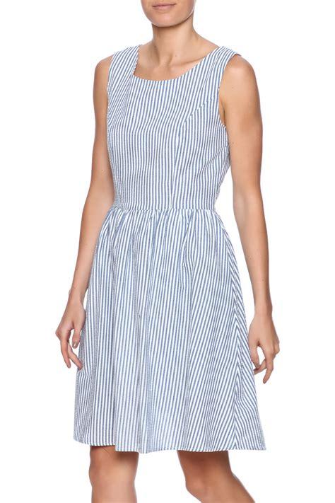 sleeveless high waist a line dress comme toi seersucker dress from florida by momni