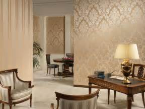 gold color wallpaper in living room olpos design - Wallpaper For Livingroom
