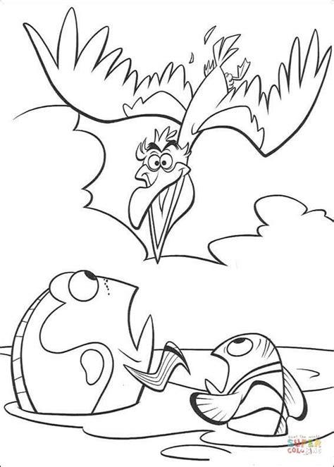 nigel brown pelican coloring page  printable