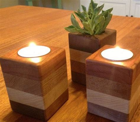 stacked wood tealight holders  houzz article  scrap