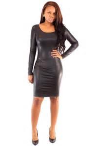 Faux Leather Dresses Women