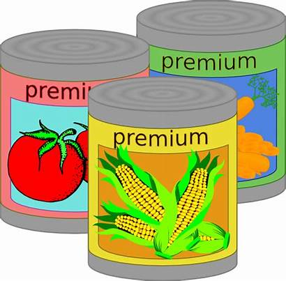 Canned Goods Clip Clipart Vector Clker Vegetables