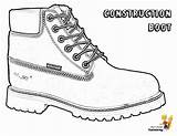 Coloring Pages Boots Construction Boot Timberland Yescoloring Template Sheets Truck Sketch Printables Snow Colouring Sneakers Shoes Dirty Hat Hard Templates sketch template
