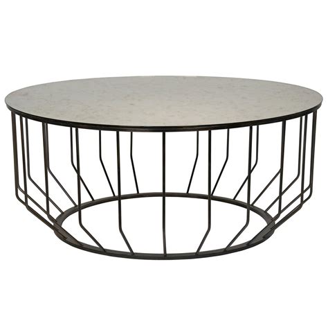 round industrial coffee table sandford industrial loft antique glass metal round coffee