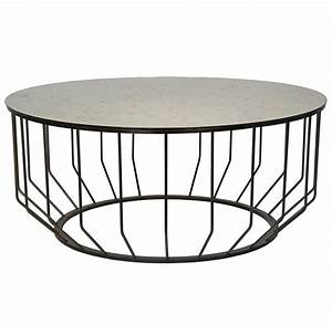 sandford industrial loft antique glass metal round coffee With metal circle coffee table