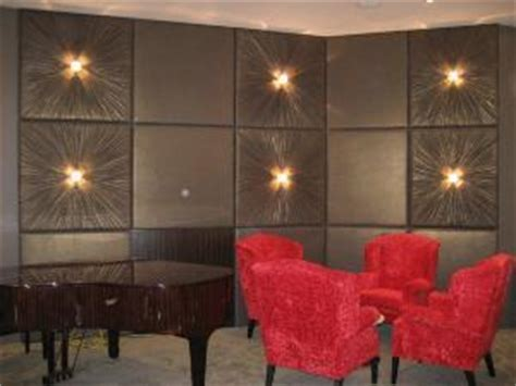 brown fabric covered walls  panels