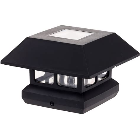 solar deck cap lights greenlighting new 4 quot x 4 quot inch black solar powered led