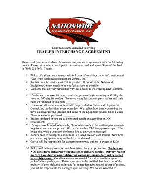 fillable  trailer interchange agreementdoc fax