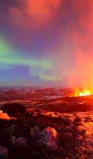 Aurora Borealis Landscape