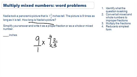 multiplying mixed numbers word problems video arithmetic ck 12 foundation