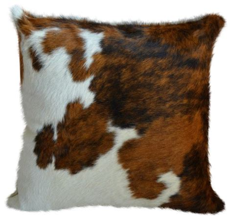 Cowhide Pillow Covers by Pergamino Tricolor Cowhide Pillow Covers Modern